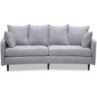 Gotland 3-sits svängd soffa - Oxford grå