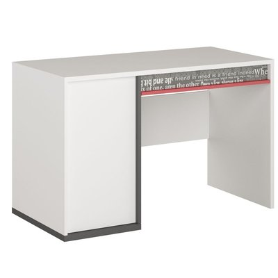 Jacklyn skrivbord - Vit/graphite