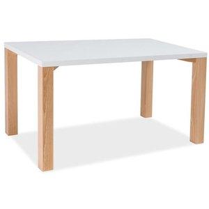 Julissa matbord 120 cm - Vit/bok