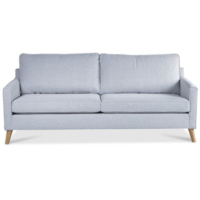 Blues 3-sits soffa - Ljusgrå / Ek