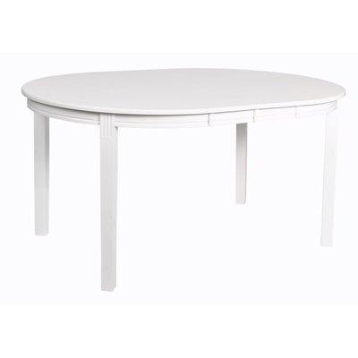 Wittskär ovalt matbord 150-200 cm förlängningsbart - Vit