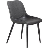 Combino stol - Vintage svart konstläder