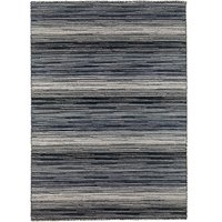 Handvävd matta - Himalaya - Svart/vit - Ull