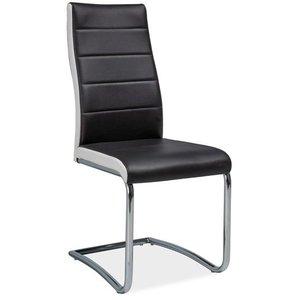 Alanna stol - Svart/krom