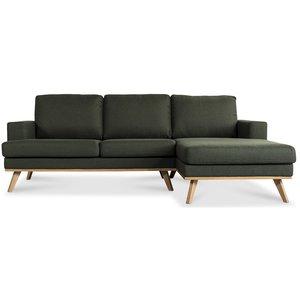 Norwich 2-sits soffa med öppet avslut - Mörkgrön