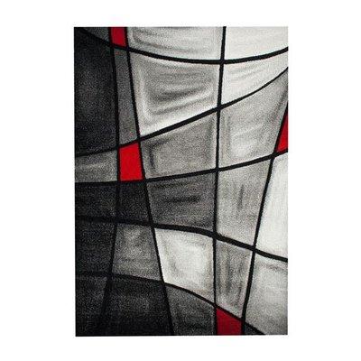 Maskinvävd matta Turin - Röd