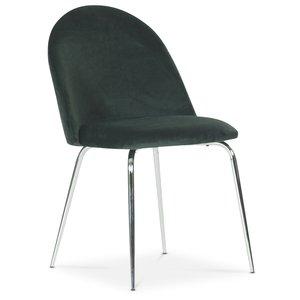 Plaza velvet stol - Grön / Krom