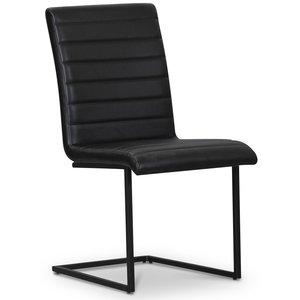 Lazio stol svart metall - Svart PU