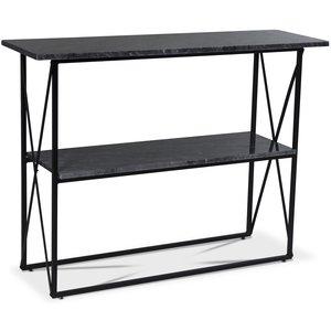 Paladium konsolbord - Svart / Äkta grå marmor