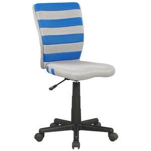 Alannah skrivbordsstol - Grå/blå