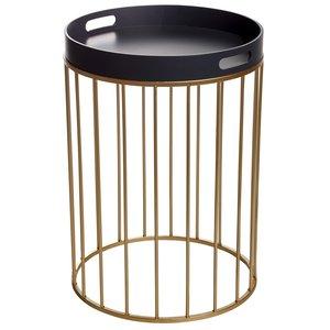 Chandler lampbord - Grå / Guld