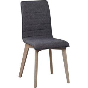 Aniyah stol - Mörkgrå/whitewash ek