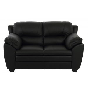 Palarmo 2-sits soffa - Svart ecoläder