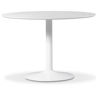 Ibiza matbord - vit/vit - ø110 cm