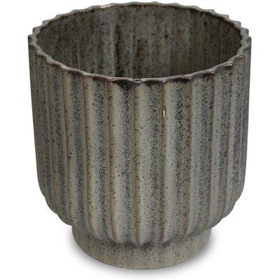 Kruka Dreja H18 cm - Grå