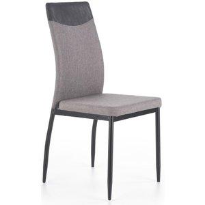 Tracee matstol - Mörkgrå/ljusgrå (PU/Tyg)