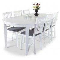 Sandhamn matgrupp - Bord inklusive 6 st stolar
