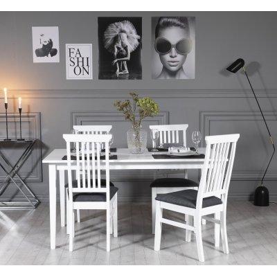 Gåsö matgrupp 150 cm inklusive 4 st Måsö stolar - Vit