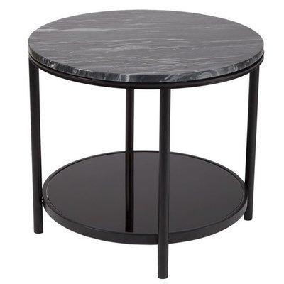 Salvador soffbord 60 - Svart/marmor