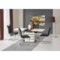 Adine matbord 140-180 cm - Vit/svart