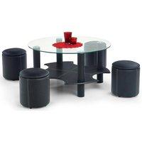 Meeting soffbord inklusive sittpuffar - Svart