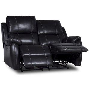 Enjoy Chicago El-Recliner 2-sits soffa - Svart microfiber