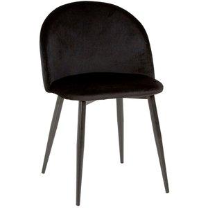 Darling stol - Svart sammet