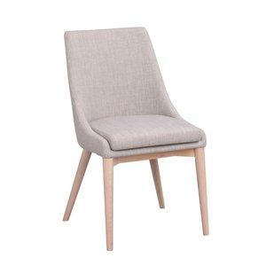 Bethan stol - Ljusgrå/whitewash