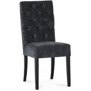 Lexington Milton stol - Mörkgrå (Sammet) / Svarta ben